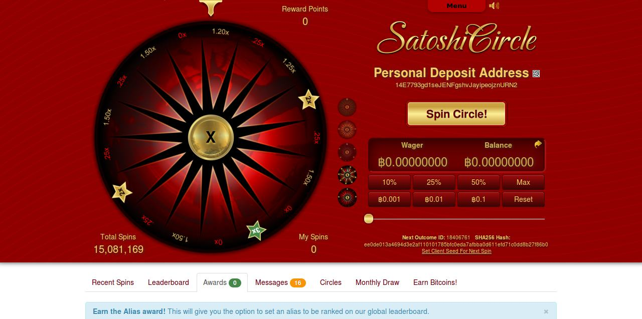 Satoshi Circle screenshot