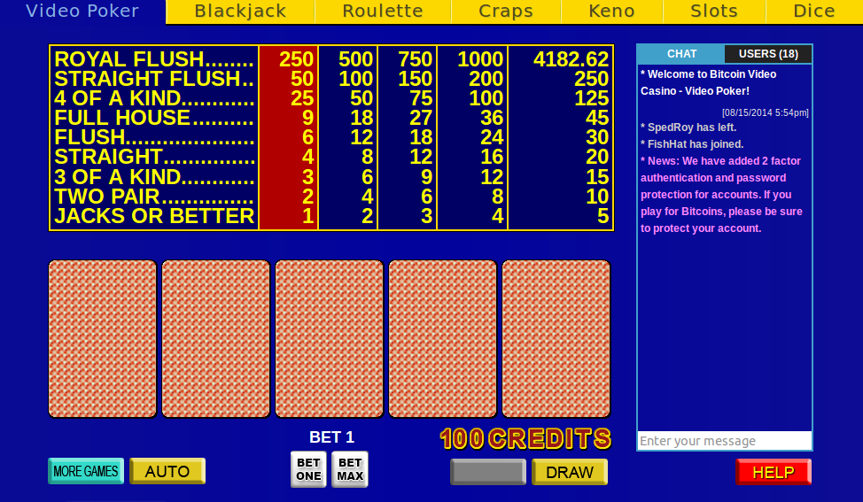 Video Poker screenshot