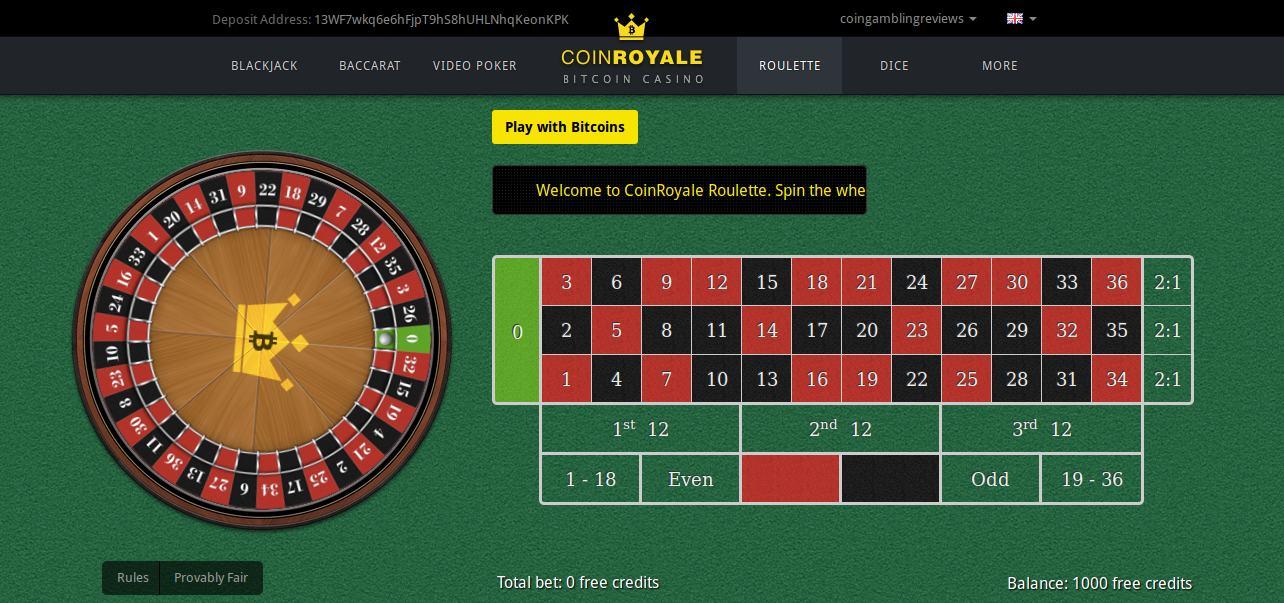 coinroyale screenshot