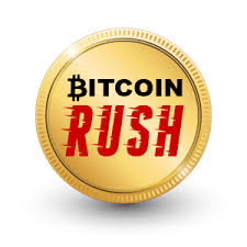 Bitcoin rush logo inside a coin