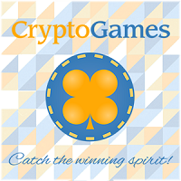 Crypto-games logo with lucky four leaf clover