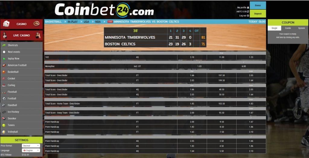 Coinbet24 inplay sportsbet