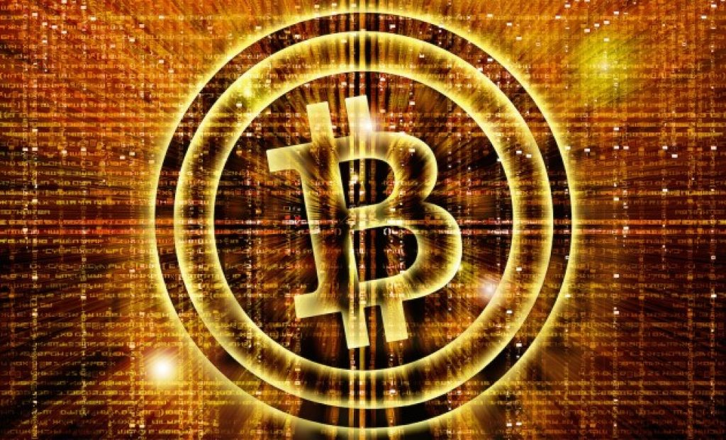 Bitcoin image looking like gold.