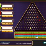 Plinko screenshot of balls falling at Crypto-Games