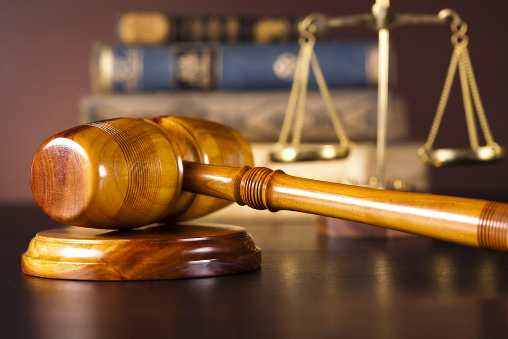 Picture of a legal hammer from a judge