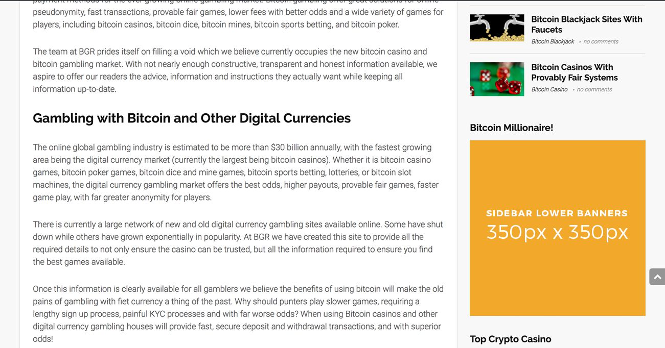 Advertise With Bgr Bitcoin Gambling Reviews