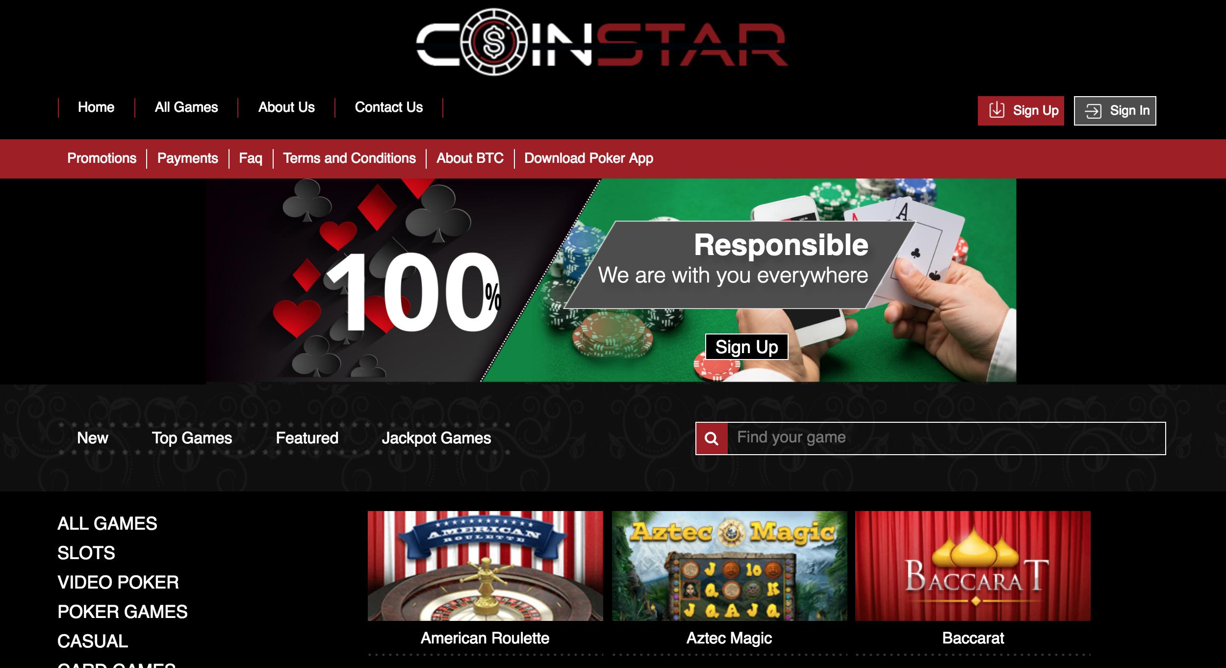 Coinstar.me Homepage