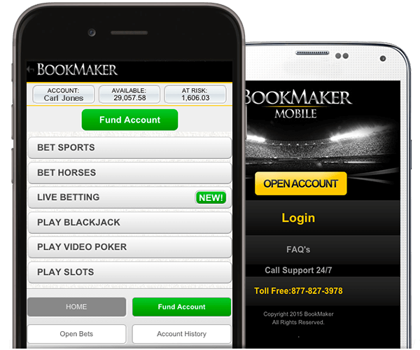 mobile phone display for bookmaker.eu